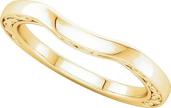 14 Karat Yellow Curved Band