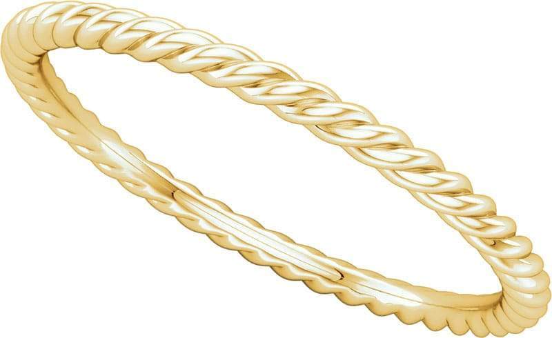 14 Karat Yellow Rope Band