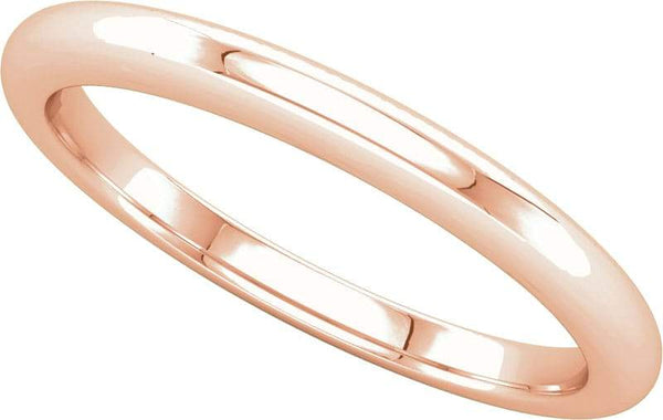 14 Karat Rose Gold Band