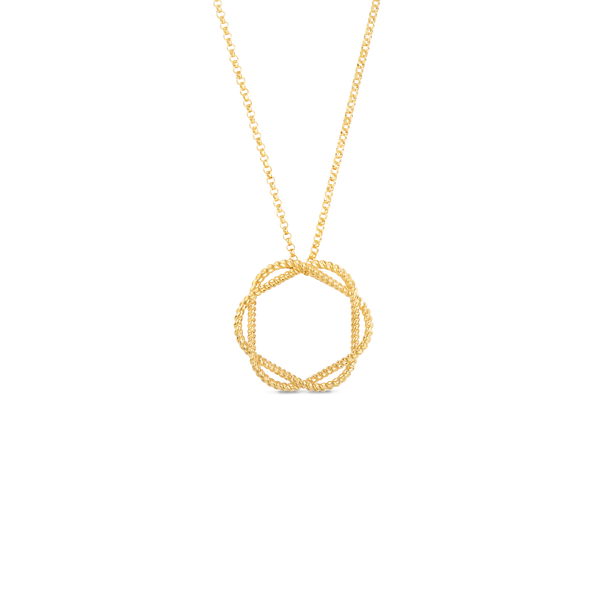 Roberto Coin New Barocco Circle Pendant