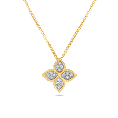 Roberto Coin Medium Princess Flower Pendant with Diamonds