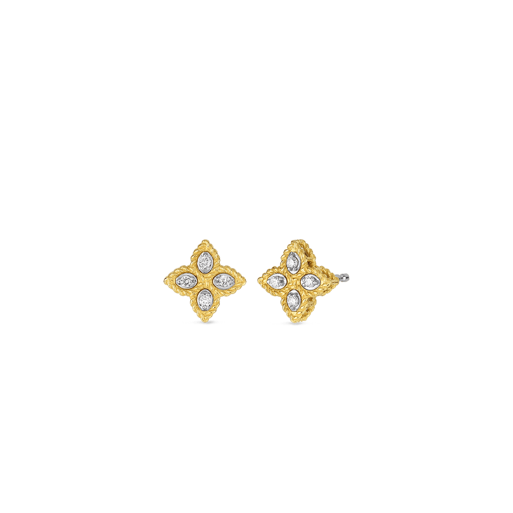 Roberto Coin Princess Flower Small Stud Earrings