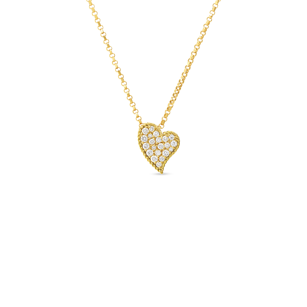 Roberto Coin Diamond Princess Heart Necklace