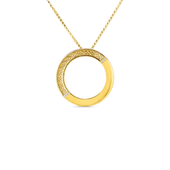 Roberto Coin Silk Collection Circle Pendant with Diamonds