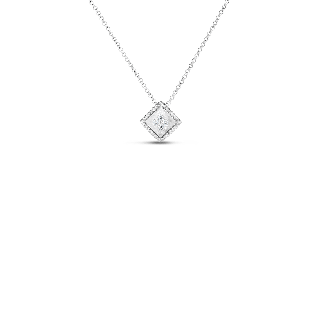 18K Palazzo Ducale Diamond Accent Satin Small Pendant