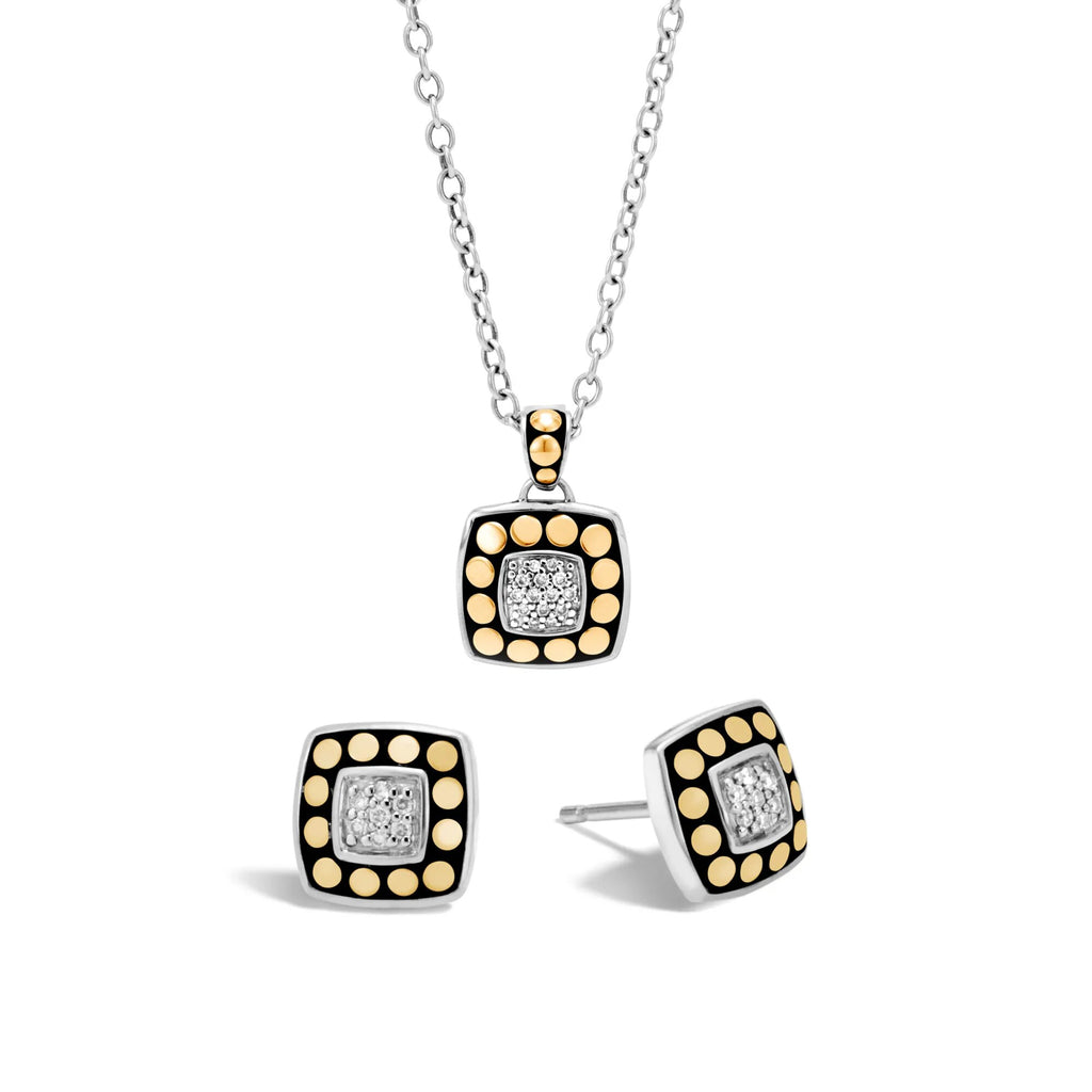 John Hardy Dot Gold And Silver Diamond Gift Set