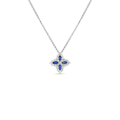 Roberto Coin Princess Flower Sapphire & Diamond Pendant