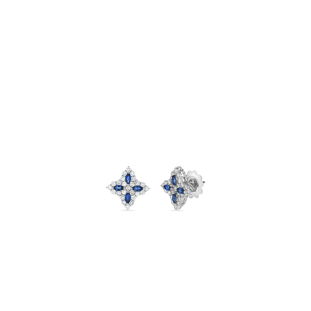 Roberto Coin Princess Flower Sapphire & Diamond Earrings