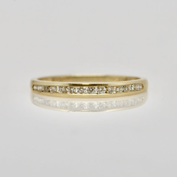 14 Karat Gold Channel Set Ring