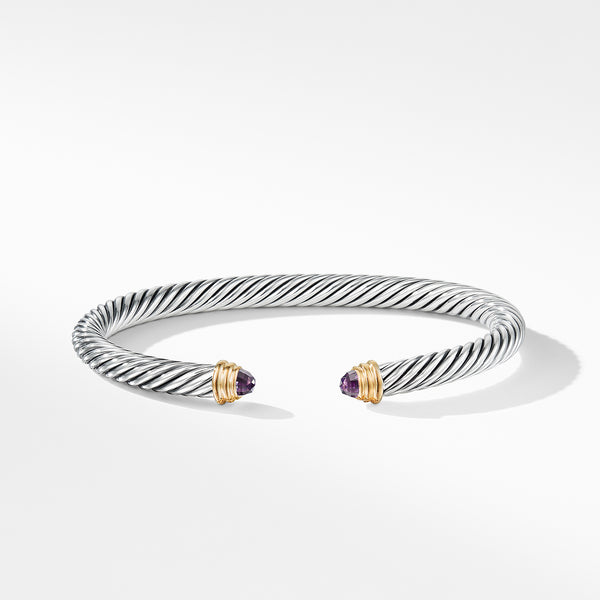 Cable Classics Collection® Bracelet with Amethyst and 14K Gold - TEST PRODUCT