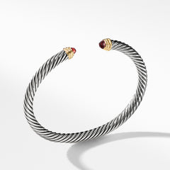 Cable Classics Bracelet with Garnet and Gold