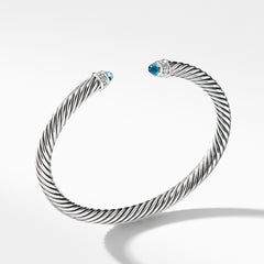 Cable Classics Collection® Bracelet with Blue Topaz and Diamonds