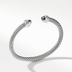 Cable Classics Collection® Bracelet with Hematine and Diamonds