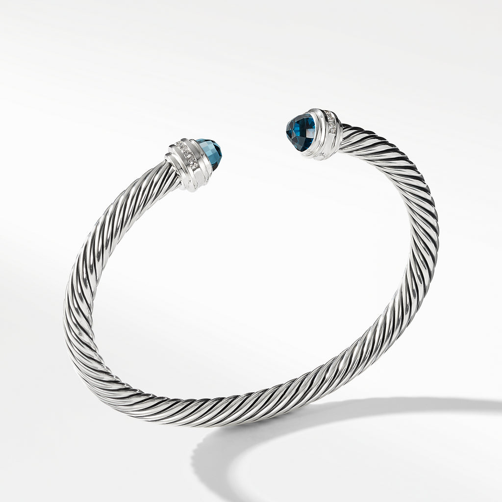 Bracelet with Hampton Blue Topaz and Diamonds