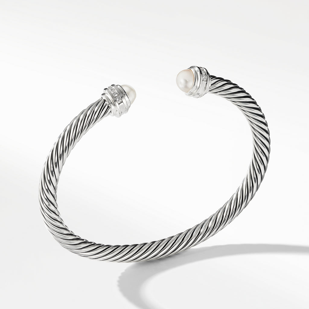 Cable Classics Collection® Bracelet with Pearls and Diamonds