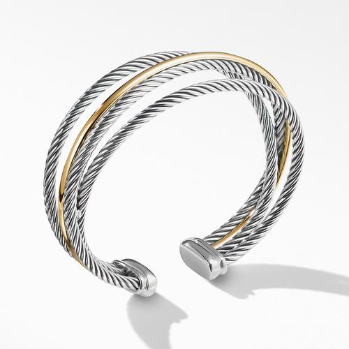 Crossover Three-Row Cuff with Gold