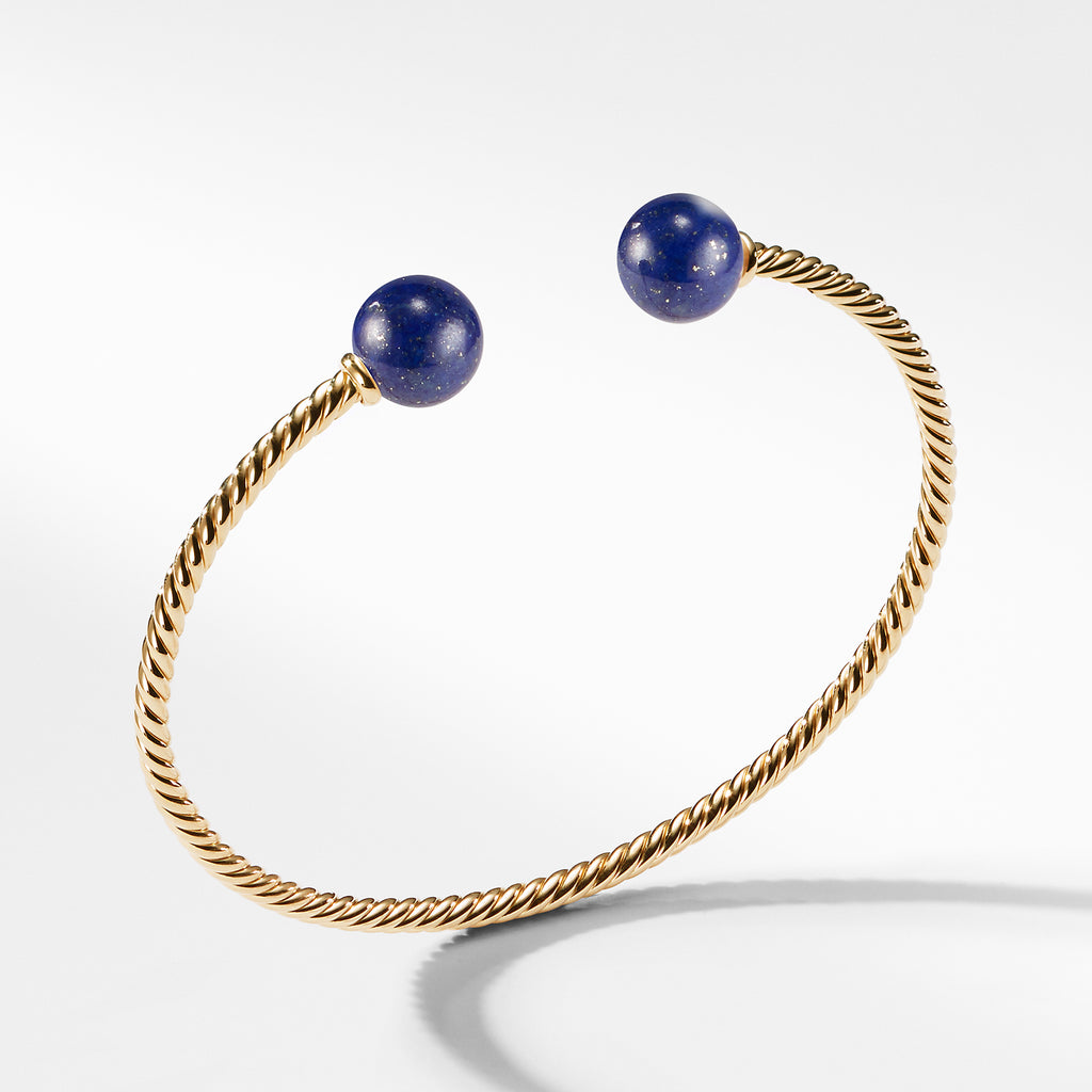 Solari Bead Bracelet with Lapis Lazuli in 18K Gold