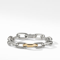 DY Madison Medium Bracelet with 18K Gold, 11mm