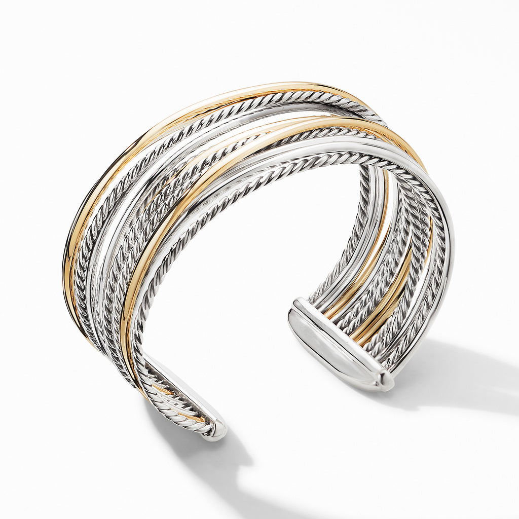 The Crossover Collection® Wide Cuff Bracelet with 18K Yellow Gold