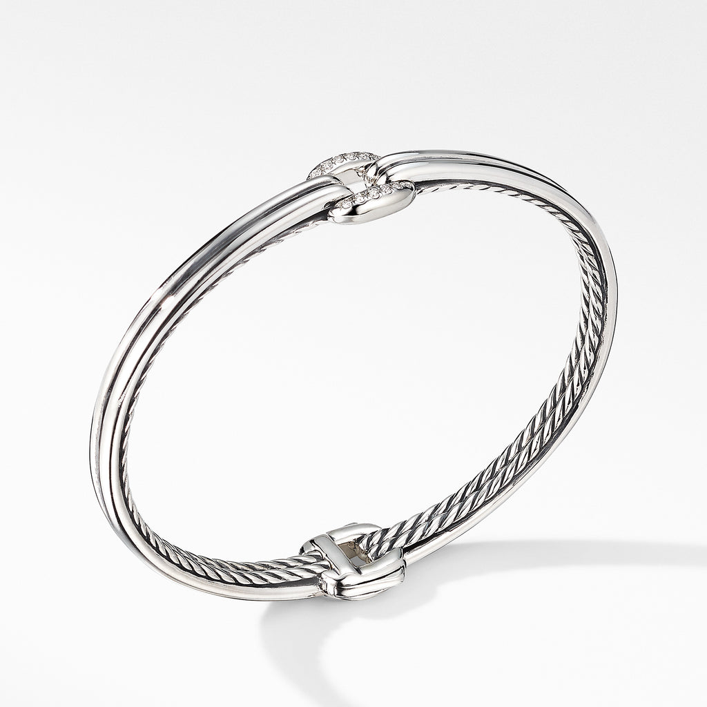 Thoroughbred® Center Link Bracelet with Diamonds