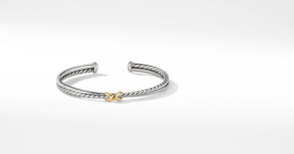 Petite X Center Station Bracelet with 18K Yellow Gold