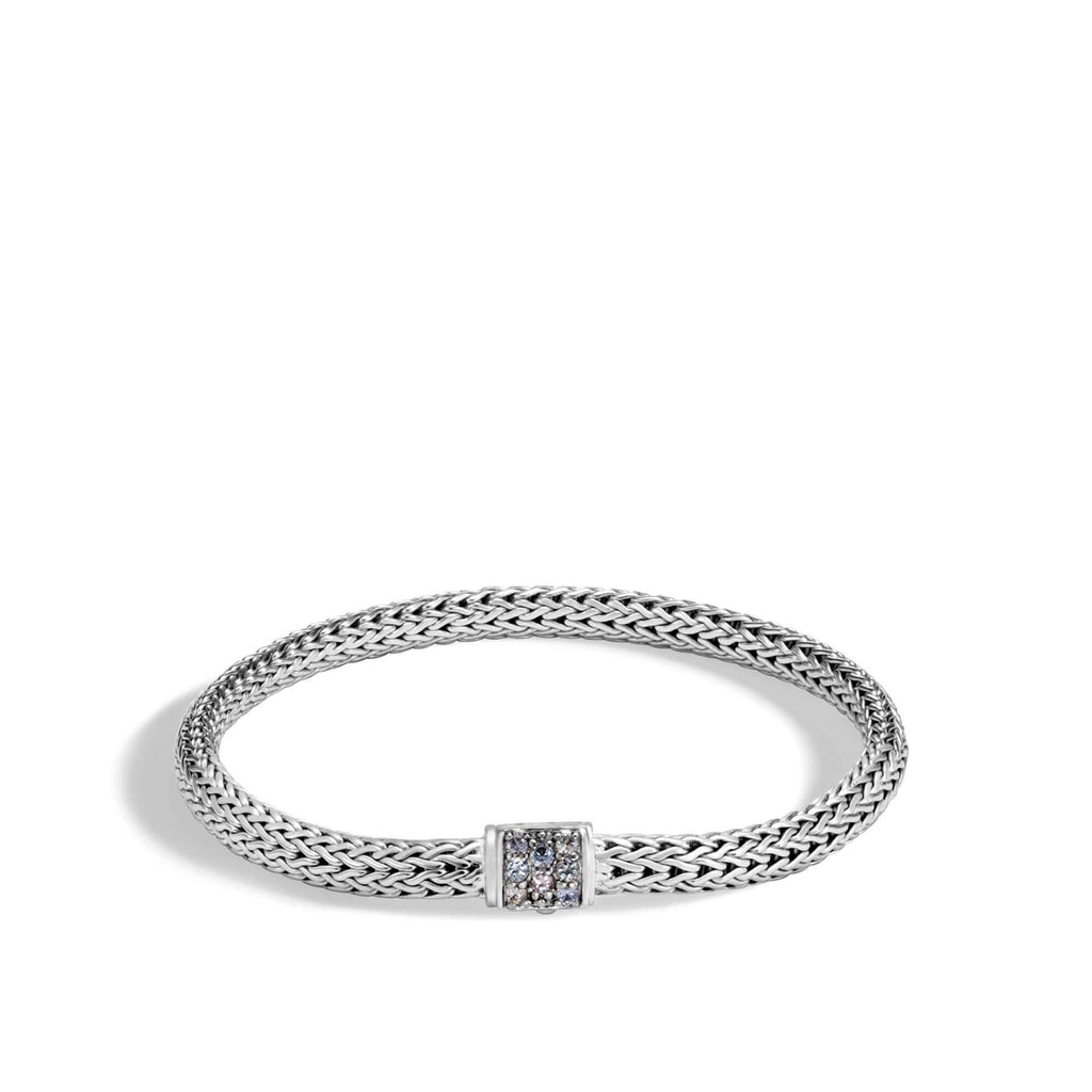 John Hardy Classic Chain Bracelet With Grey Sapphire, 5mm