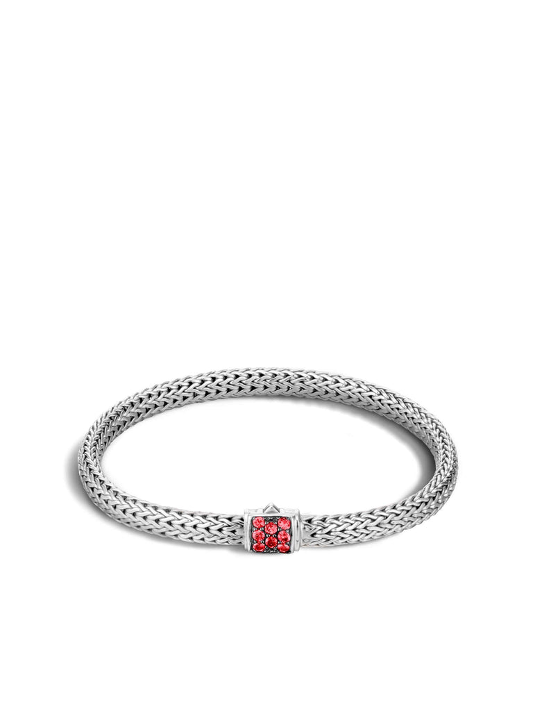 John Hardy Classic Chain Bracelet With Red Sapphire