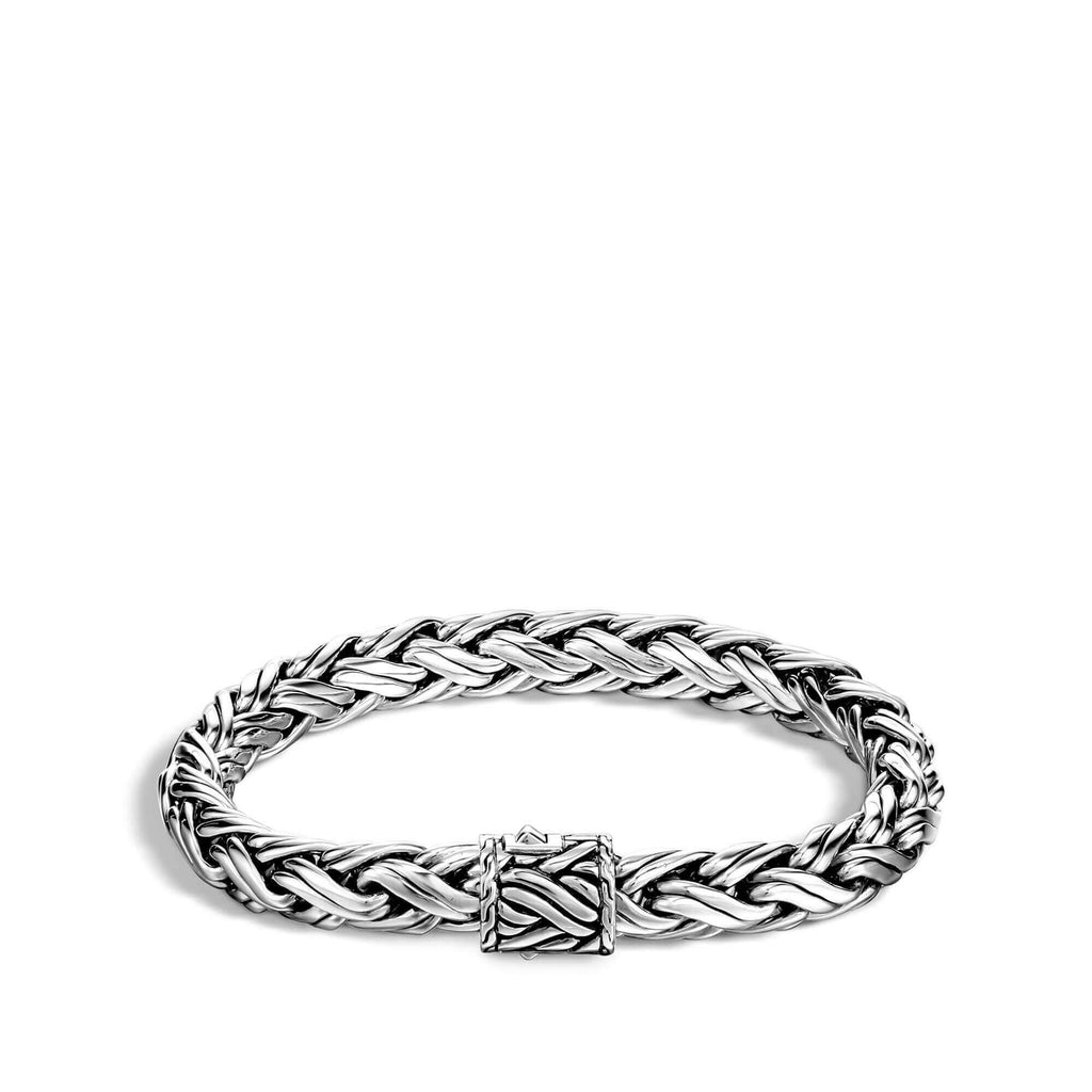 John Hardy Classic Chain 8mm Medium Woven Chain Bracelet