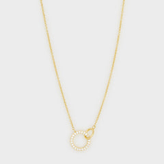 Balboa Shimmer Interlocking Necklace, Gold