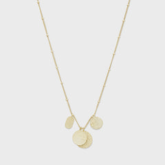 Banks Mixed Coin Necklace, Gold