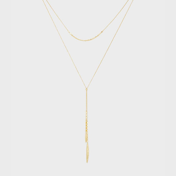 Chloe Mini Layered Versatile Necklace, Gold