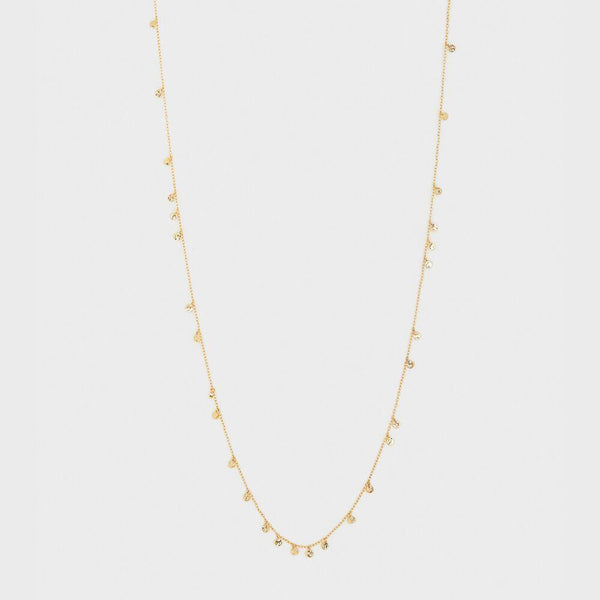 Chloe Mini Long Necklace, Gold