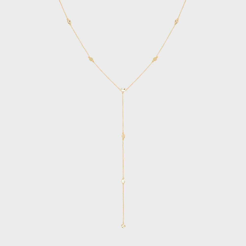 Chloe Short Lariat, Gold