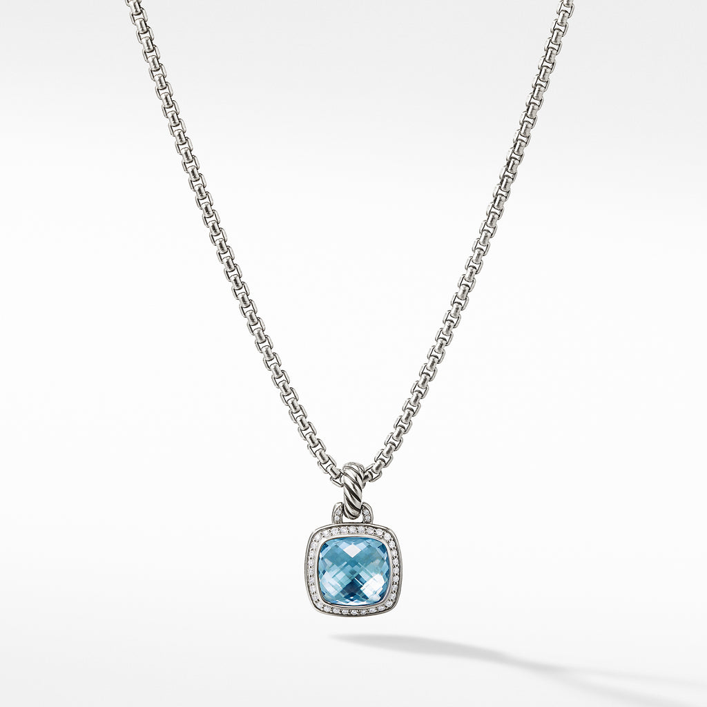 Albion® Pendant with Blue Topaz and Diamonds