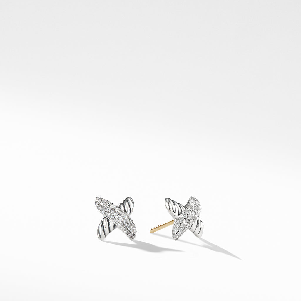 X Collection Earrings with Diamonds