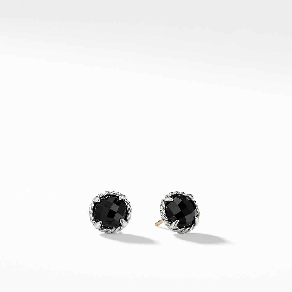 Earrings with Black Onyx