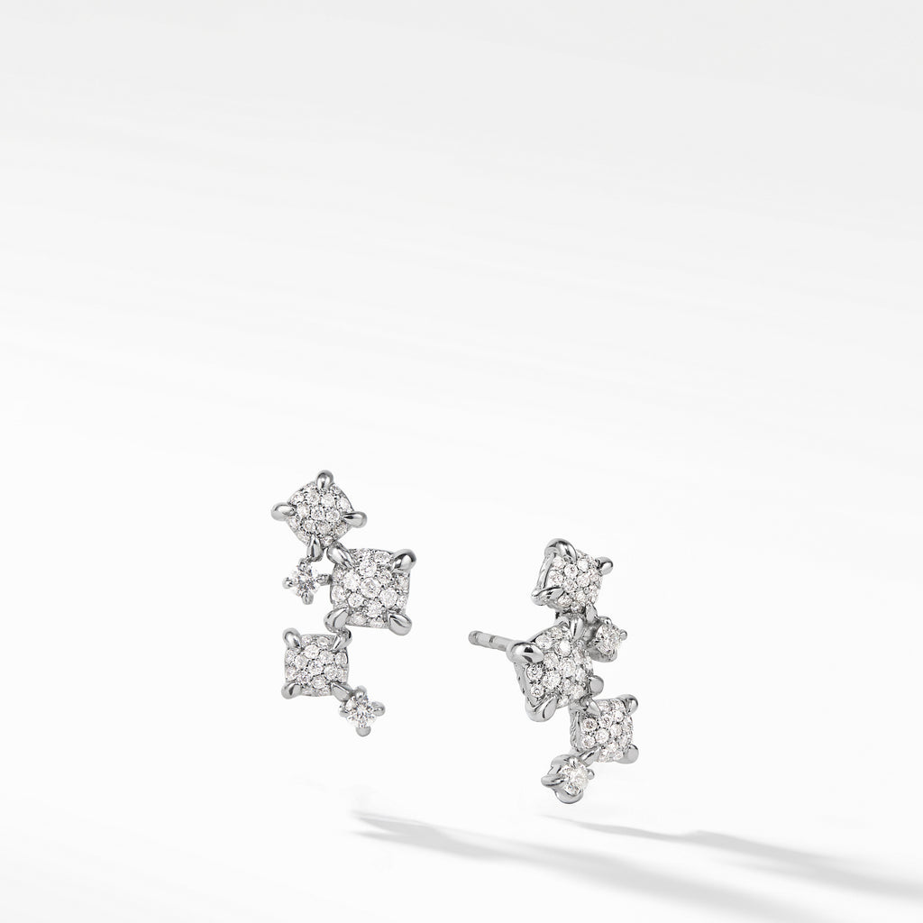 Precious Chatelaine® Climber Earrings with Diamonds in 18K White Gold