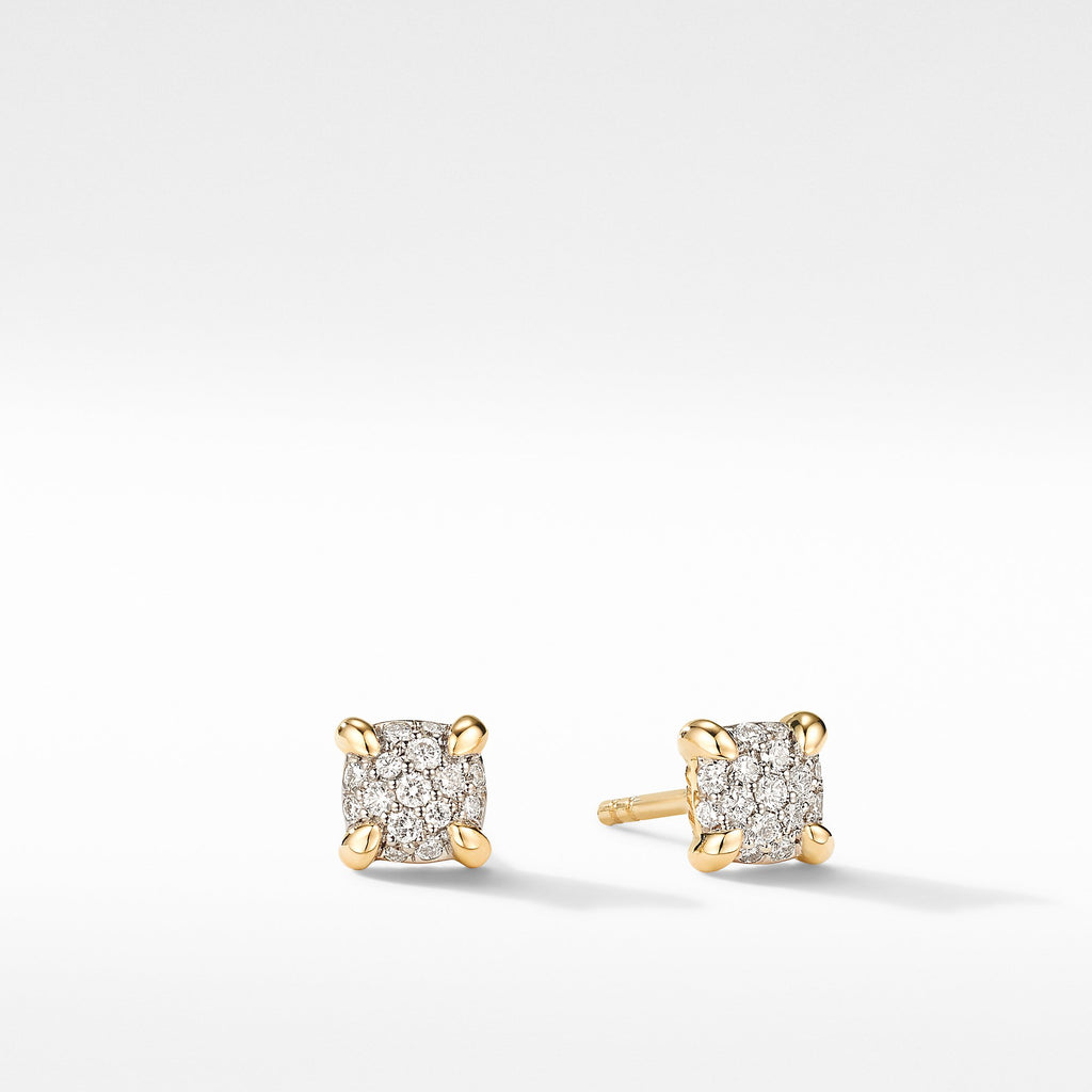 The Châtelaine® Collection Petite Stud Earrings in 18K Yellow Gold with Diamonds