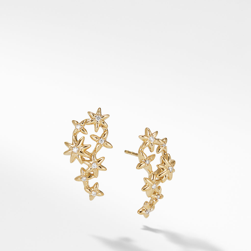 Starburst Constellation Climber Earrings in 18K Gold with Dimaonds