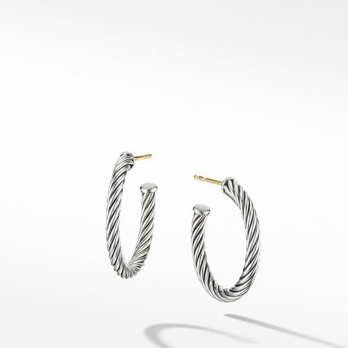 Small Cable Hoop Earrings