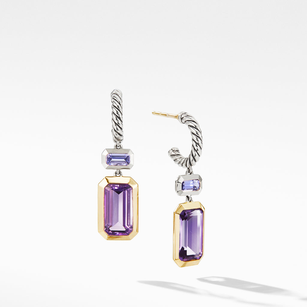 Novella Drop Earrings with Amethyst and 18K Yellow Gold