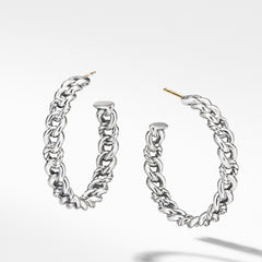 Belmont Curb Link Medium Hoop Earrings