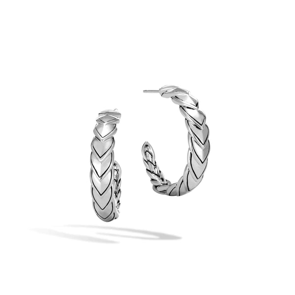 John Hardy Legends Naga Silver Small Hoop Earrings