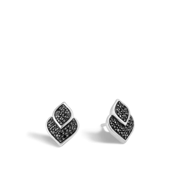 John Hardy Legends Naga Stud Earring with Black Sapphire, Black Spinel
