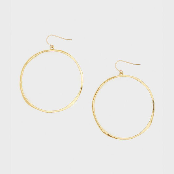 G Ring Earrings, Gold