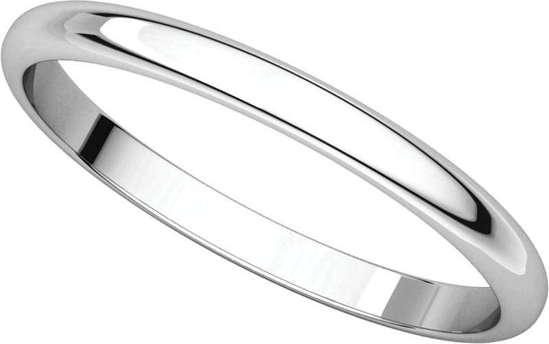 14 Karat White Gold Band