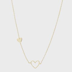 Heart Charm Necklace, Gold