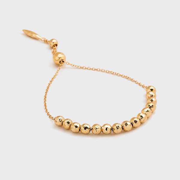 Laguna Large Adjustable Bracelet, Gold