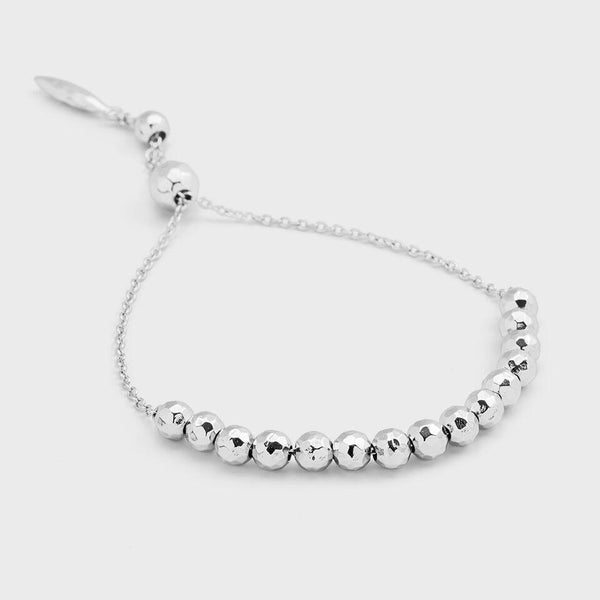 Laguna Large Adjustable Bracelet, Silver