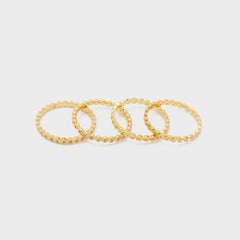 Mini Stackable Ring Set, Gold